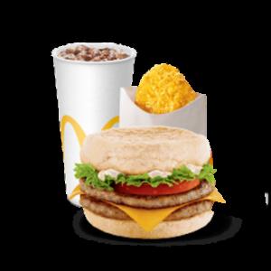 Двойной Фреш МакМаффин с картофельным оладушком МакКомбо (стандартный)