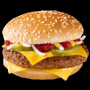 Чизбургер за 30 рублей вместо 50 рублей в МакДональдс